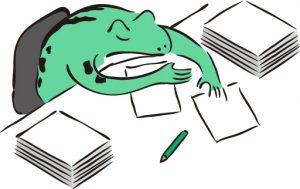 過労のカエル