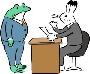 ウサギとカエル上司