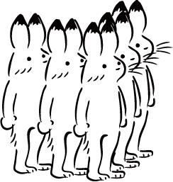 増えるウサギ