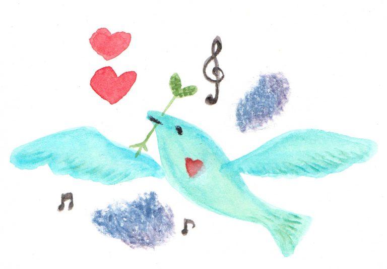 羽ばたく鳥